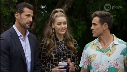 Pierce Greyson, Chloe Brennan, Aaron Brennan in Neighbours Episode 8376