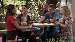 Bea Nilsson, Aster Conway, Elly Conway, Kyle Canning, Sheila Canning in Neighbours Episode 8376