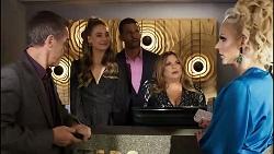 Paul Robinson, Chloe Brennan, Pierce Greyson, Terese Willis, Courtney Act in Neighbours Episode 8378