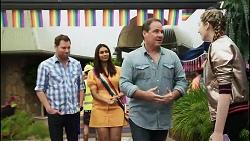 Shane Rebecchi, Dipi Rebecchi, Grant Hargreaves, Mackenzie Hargreaves in Neighbours Episode 8378
