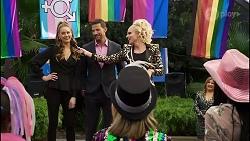 Chloe Brennan, Pierce Greyson, Courtney Act, Terese Willis in Neighbours Episode 8378