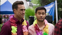 Aaron Brennan, David Tanaka in Neighbours Episode 8379