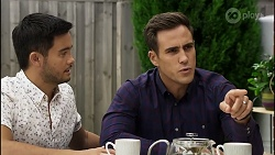David Tanaka, Aaron Brennan in Neighbours Episode 8379
