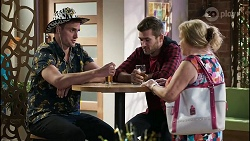 Kyle Canning, Ned Willis, Sheila Canning in Neighbours Episode 8380