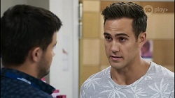 David Tanaka, Aaron Brennan in Neighbours Episode 8380
