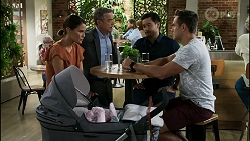 Elly Conway, Paul Robinson, David Tanaka, Aaron Brennan in Neighbours Episode 8381