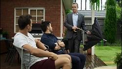 Aaron Brennan, David Tanaka, Paul Robinson in Neighbours Episode 8381