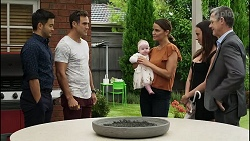 David Tanaka, Aaron Brennan, Aster Conway, Elly Conway, Bea Nilsson, Paul Robinson in Neighbours Episode 8381