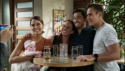 Paul Robinson, Aster Conway, Elly Conway, Bea Nilsson, David Tanaka, Aaron Brennan in Neighbours Episode 8381