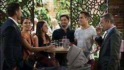 Pierce Greyson, Elly Conway, Bea Nilsson, David Tanaka, Aaron Brennan, Paul Robinson in Neighbours Episode 8381