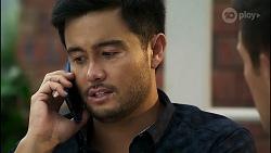 David Tanaka, Aaron Brennan in Neighbours Episode 8381