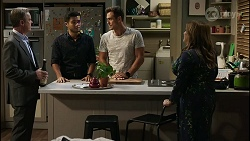 Paul Robinson, David Tanaka, Aaron Brennan, Terese Willis in Neighbours Episode 8382