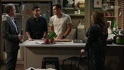 Paul Robinson, David Tanaka, Aaron Brennan, Terese Willis in Neighbours Episode 8382