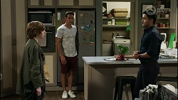 Emmett Donaldson, Aaron Brennan, David Tanaka in Neighbours Episode 8382