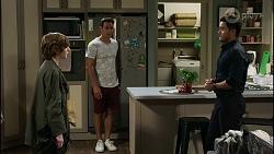 Emmett Donaldson, Aaron Brennan, David Tanaka in Neighbours Episode 8382