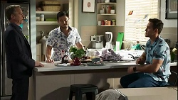 Paul Robinson, David Tanaka, Aaron Brennan in Neighbours Episode 8383