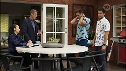 Leila Potts, Paul Robinson, Aaron Brennan, David Tanaka in Neighbours Episode 8383