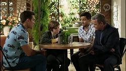 Aaron Brennan, Emmett Donaldson, David Tanaka, Paul Robinson in Neighbours Episode 8383