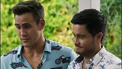 Aaron Brennan, David Tanaka in Neighbours Episode 8383