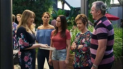 Olivia Bell, Elly Conway, Bea Nilsson, Susan Kennedy, Karl Kennedy in Neighbours Episode 8384