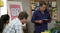 Yashvi Rebecchi, Shane Rebecchi, Grant Hargreaves in Neighbours Episode 8384