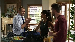 Toadie Rebecchi, Yashvi Rebecchi, Ned Willis in Neighbours Episode 8385