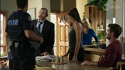 Levi Canning, Toadie Rebecchi, Yashvi Rebecchi, Dee Bliss, Ned Willis in Neighbours Episode 8385