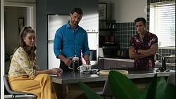 Chloe Brennan, Pierce Greyson, Aaron Brennan in Neighbours Episode 8387
