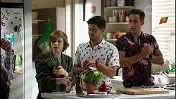 Emmett Donaldson, David Tanaka, Aaron Brennan in Neighbours Episode 8387