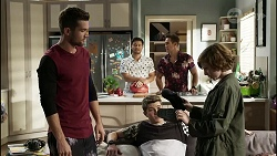 Ned Willis, David Tanaka, Hendrix Greyson, Aaron Brennan, Emmett Donaldson in Neighbours Episode 8387