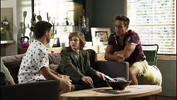 David Tanaka, Emmett Donaldson, Aaron Brennan in Neighbours Episode 8387