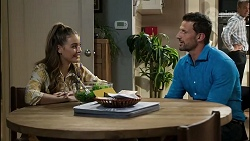 Chloe Brennan, Pierce Greyson, Paul Robinson in Neighbours Episode 8387