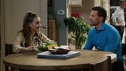 Chloe Brennan, Pierce Greyson, Paul Robinson in Neighbours Episode 8387