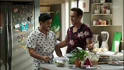 David Tanaka, Aaron Brennan in Neighbours Episode 8387