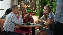Paul Robinson, Terese Willis, Harlow Robinson, Aaron Brennan in Neighbours Episode 8388