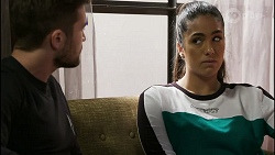 Ned Willis, Yashvi Rebecchi in Neighbours Episode 8388