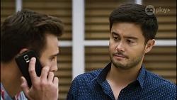 Aaron Brennan, David Tanaka in Neighbours Episode 8389