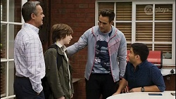 Paul Robinson, Emmett Donaldson, Aaron Brennan, David Tanaka in Neighbours Episode 8389
