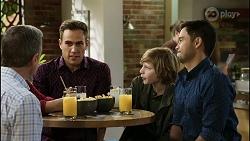 Paul Robinson, Aaron Brennan, Emmett Donaldson, David Tanaka in Neighbours Episode 8389