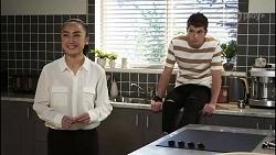 Leila Potts, Hendrix Greyson in Neighbours Episode 8389