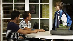 David Tanaka, Aaron Brennan, Emmett Donaldson in Neighbours Episode 8392