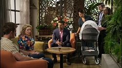 Kyle Canning, Sheila Canning, Pierce Greyson, Elly Conway, Shaun Watkins, Bea Nilsson in Neighbours Episode 8392