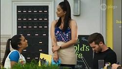 Yashvi Rebecchi, Dipi Rebecchi, Ned Willis in Neighbours Episode 8393