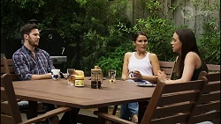 Shaun Watkins, Elly Conway, Bea Nilsson in Neighbours Episode 8394
