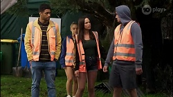 Levi Canning, Roxy Willis, Bea Nilsson, Kyle Canning in Neighbours Episode 8394