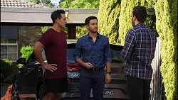Aaron Brennan, David Tanaka, Shaun Watkins in Neighbours Episode 8394