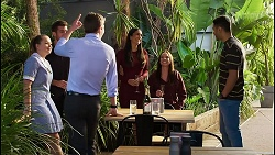 Harlow Robinson, Ned Willis, Hendrix Greyson, Yashvi Rebecchi, Bea Nilsson, Levi Canning in Neighbours Episode 8395