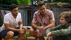 David Tanaka, Aaron Brennan, Emmett Donaldson in Neighbours Episode 8397
