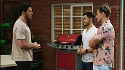 Shaun Watkins, David Tanaka, Aaron Brennan in Neighbours Episode 8397