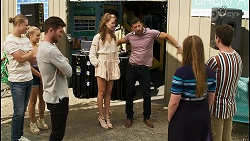 Richie Amblin, Roxy Willis, Ned Willis, Chloe Brennan, Pierce Greyson, Harlow Robinson, Hendrix Greyson in Neighbours Episode 8398